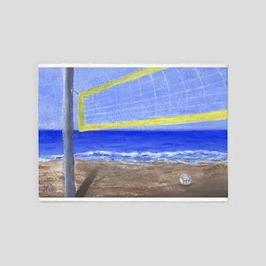 Beach Volleyball 5'x7'Area Rug