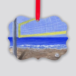 Beach Volleyball Picture Ornament