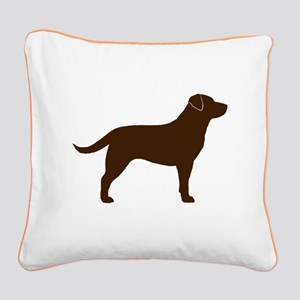 Chocolate Lab Square Canvas Pillow