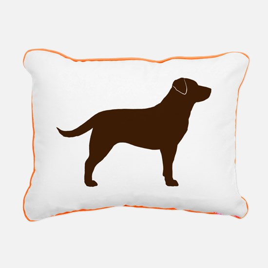 Chocolate Lab Rectangular Canvas Pillow