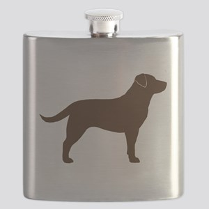 Chocolate Lab Flask