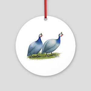 Guineas Slate Pair Ornament (round)