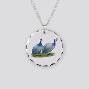 Guineas Slate Pair Necklace Circle Charm