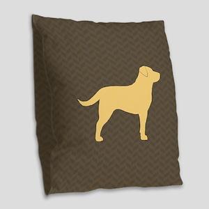 Yellow Lab Burlap Throw Pillow