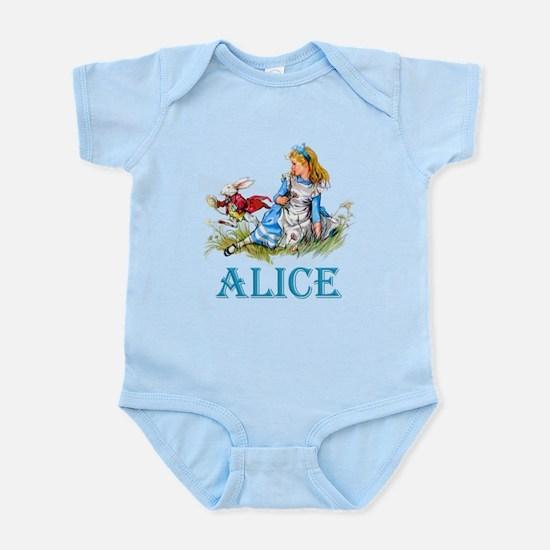 Alice and the White Rabbit Infant Bodysuit