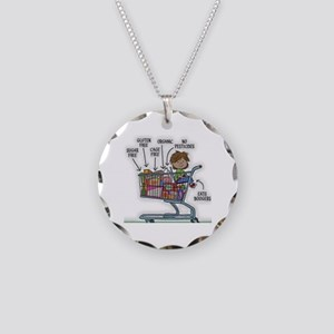 Gluten Free Necklace Circle Charm