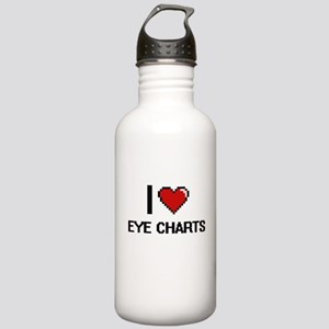 I love EYE CHARTS Stainless Water Bottle 1.0L
