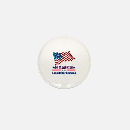 Kasich 2016 Better America Mini Button