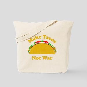 Make Tacos Not War Tote Bag