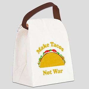 Make Tacos Not War Canvas Lunch Bag