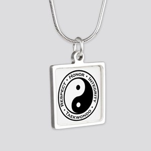 Respect Honor Integrity Tk Silver Square Necklace