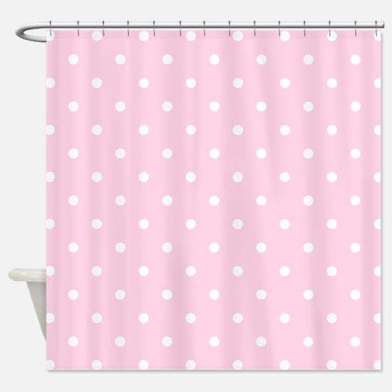 Pink, Baby: Polka Dots Pattern (Sma Shower Curtain