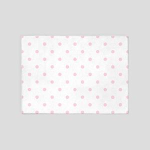 Pink, Baby: Polka Dots Pattern (Sma 5'x7'Area Rug