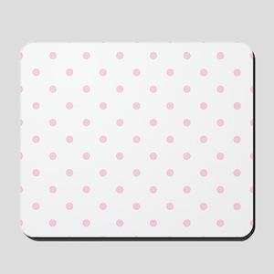 Pink, Baby: Polka Dots Pattern (Small) Mousepad