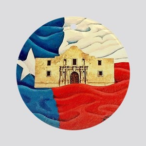 Texas Pride Round Ornament