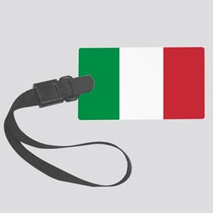 Authentic Italy national flag - Large Luggage Tag