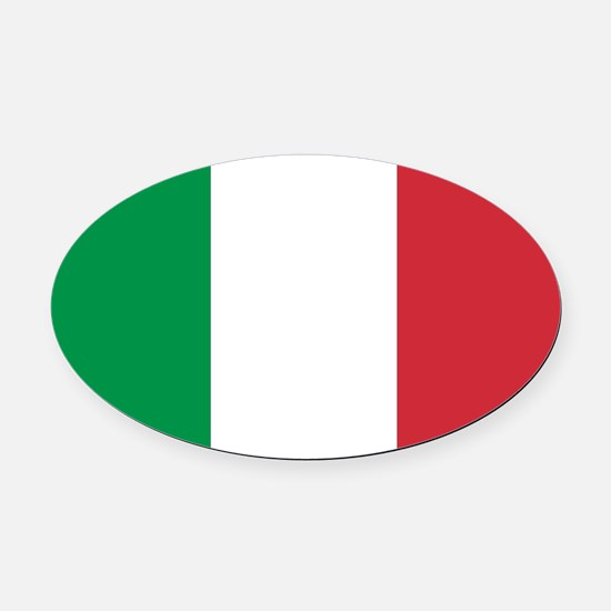 Authentic Italy national flag - SQ Oval Car Magnet