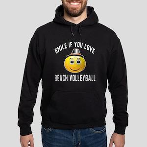 Beach Volleyball Cool Designs Hoodie (dark)