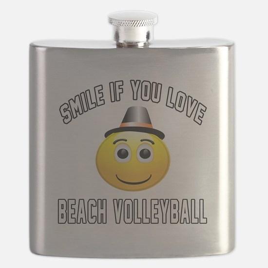 Beach Volleyball Cool Designs Flask