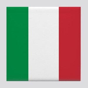 Authentic Italy national flag - SQ pr Tile Coaster