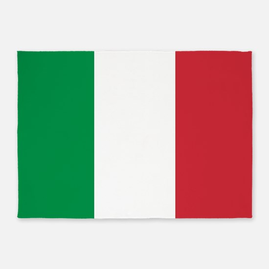 Authentic Italy national flag - SQ 5'x7'Area Rug