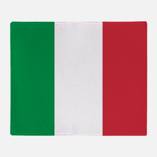 Authentic Italy national flag - SQ p Throw Blanket