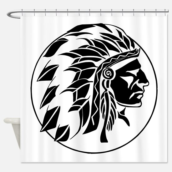 Indian Chief Head Shower Curtain