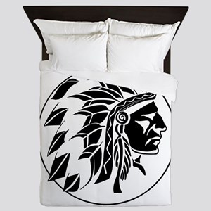 Indian Chief Head Queen Duvet