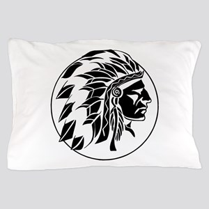 Indian Chief Head Pillow Case