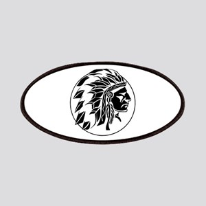 Indian Chief Head Patch