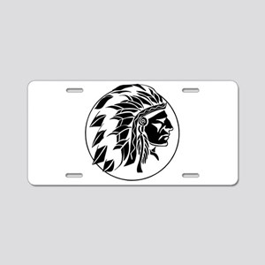 Indian Chief Head Aluminum License Plate