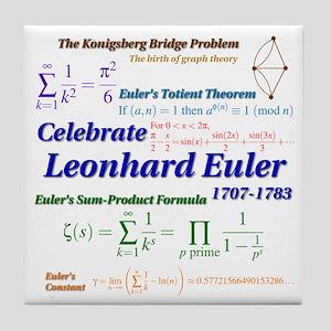 Celebrate Euler More Tile Coaster