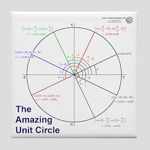 Amazing Unit Circle Tile Coaster