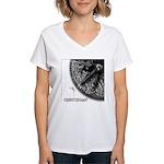 Monkeysoop Counterclockwise Women's V-Neck T-Shirt