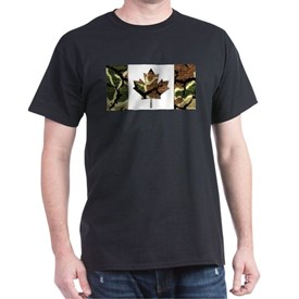 Canadian Flag Camo Brown & Green Woodland T-Shirt
