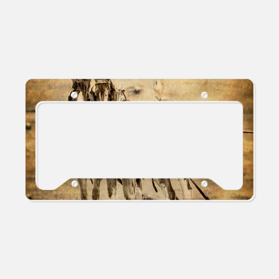 western country farm horse License Plate Holder