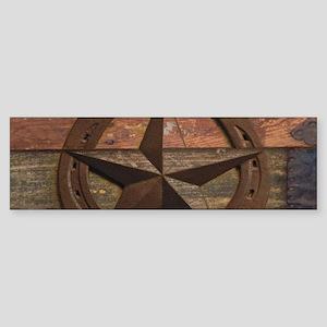 western horseshoe texas star Bumper Sticker