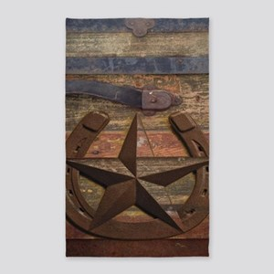 western horseshoe texas star Area Rug