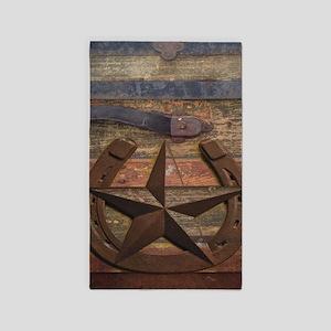 western horseshoe texas star Area Rug