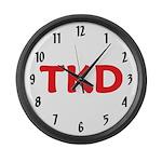 TKD Taekwondo Large Wall Clock