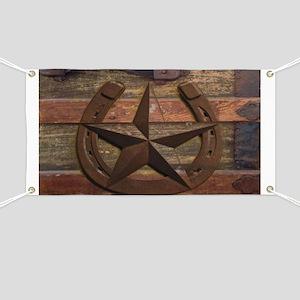 western horseshoe texas star Banner