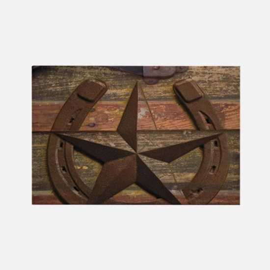 western horseshoe texas star Magnets
