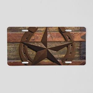 western horseshoe texas sta Aluminum License Plate