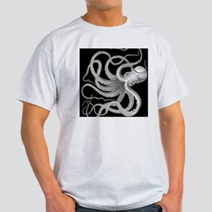 vintage octopus kraken sea creature  Light T-Shirt