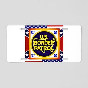 U. S. Border Patrol Aluminum License Plate