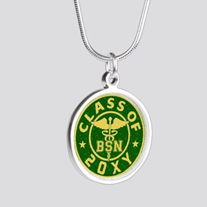 Class of 20?? Nursing Silver Round Necklace