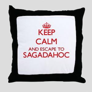 Keep calm and escape to Sagadahoc Mai Throw Pillow