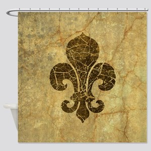 fleur-de-lis-cracked_b Shower Curtain