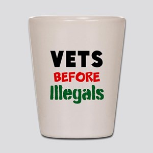 Vets Before Illegals Shot Glass