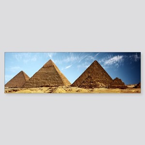 Egyptian Pyramids and Camel Bumper Sticker